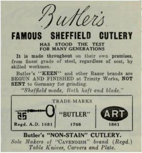 George Butler straight razor