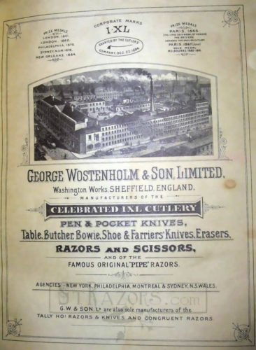 George Wostenholm straight razor