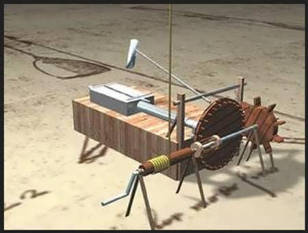 Leonardo da Vinci file cutting machine.