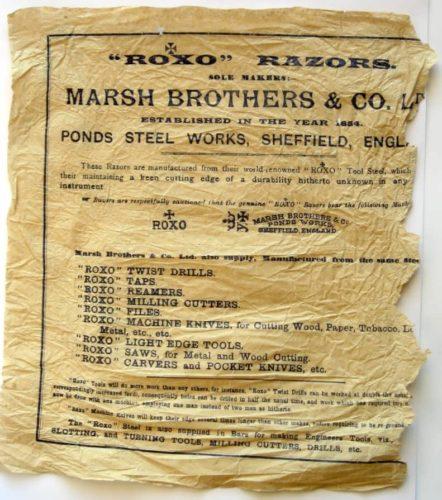 бритва Marsh Brothers & Co