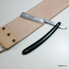 Ремень для правки опасной бритвы 530х75х4 мм (кольца)